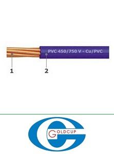 Dây điện Goldcup, dây đơn mềm CV 1x1.5