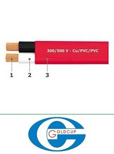 Dây điện Goldcup, dây tròn đặc 2 ruột CVVV 2x0.75