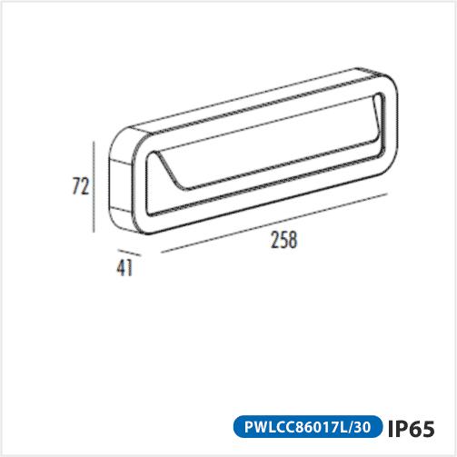 Đèn sân vườn led PWLCC86017L/30 Paragon