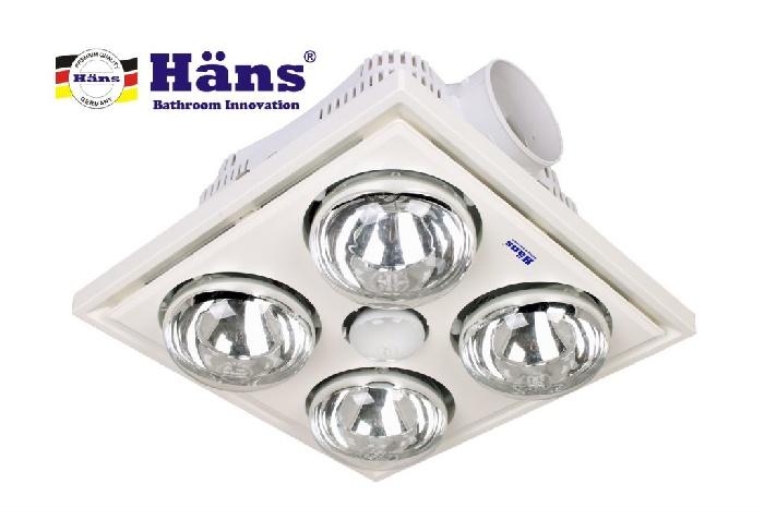 Đèn sưởi 4 bóng âm trần – H4B