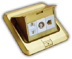 Ổ âm sàn đơn 2 chấu,hạt tivi,hạt điện thoại Roman R6896