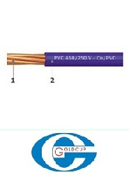 Dây điện Goldcup, dây đơn mềm CV 1x2.5