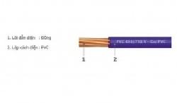 Dây điện Goldcup, dây đơn mềm CV 1x3.0