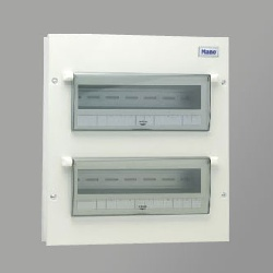 Tủ điện vỏ kim loại có chứa 18 module