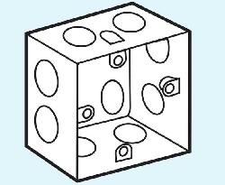 đế âm sắt loại sâu dùng cho mặt vuông-S157S/SINO