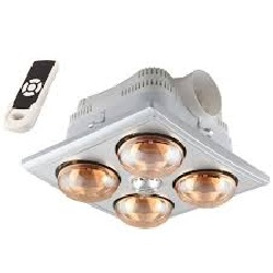 đèn sưởi 4 bóng âm trần (điều khiển từ xa)