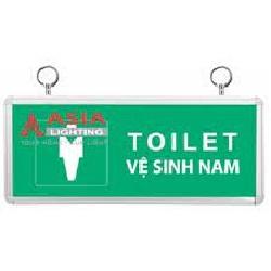 Đèn Chỉ Dẫn Exit TOILET Nam ASIA TLA-01 Mặt